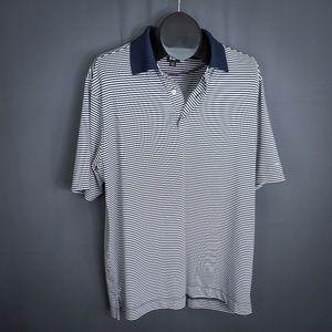 FootJoy Mens Polo Shirt Large Blue Striped